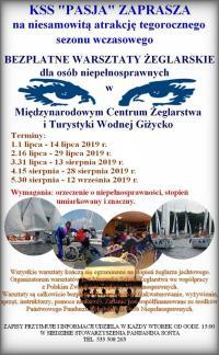 Bezpłatne warsztaty żeglarskie dla osób niepełnosprawnych
