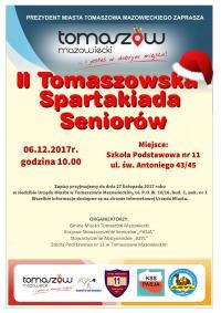 II Tomaszowska Spartakiada Seniorów - czekamy na zgłoszenia